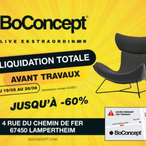 Bo Concept – Liquidation totale avant travaux